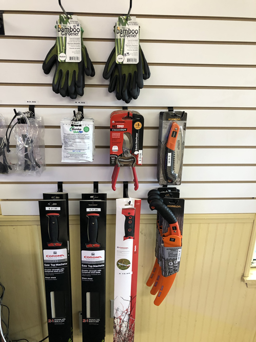 Gloves, Pruners, Machetes